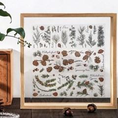 꽃 플라워 식물 열매 다꾸 투명 PET 스티커 다이어리꾸미기