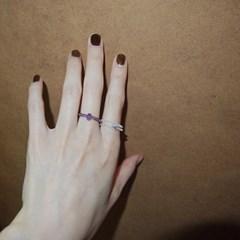 violet_crystal_ring 바이올렛 원석비즈반지