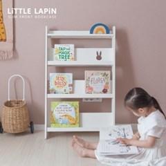 [꼬메모이]리틀라핀 슬림형 전면책장 화이트 / 유아 가구 놀이 책장