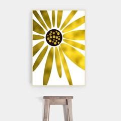 패브릭 해바라기 그림 액자 황금 플라워