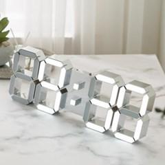 국산 플라이토 LED 인테리어 벽시계 38cm 삼성전구 크롬실버