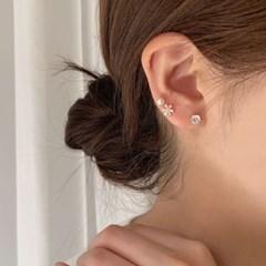 세트 꽃 미니진주 큐빅 귀걸이 모음