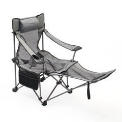 풋레스트 각도조절 접이식 캠핑의자(메쉬+그레이)