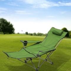 풋레스트 각도조절 접이식 캠핑의자(그린)
