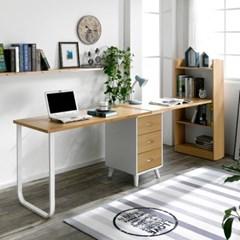 트리빔하우스 모니카 2인용 서랍형 1200 책상세트_TB21F88