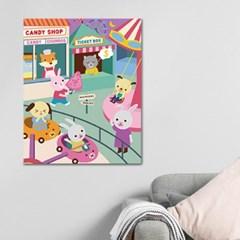 DIY 페인팅 - 아기동물과 놀이공원 PAD08 (40x50)_(1625592)