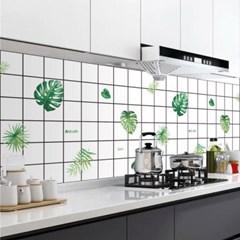 깔끔주방 오염방지 시트지 2p세트(90x60cm) (나뭇잎)