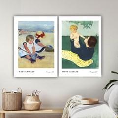 퍼니즈 메리카사트A 포스터 1+1+1 3장세트 (A3사이즈) /명화 작품