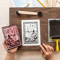 고무 판화 키트(Carving & Printing Kit)/소왕국으로부터/소요 작가