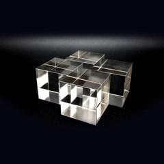 투명 아크릴 큐브 디스플레이 블럭