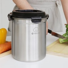 릴리브 스텐 304 음식물 쓰레기통 3L