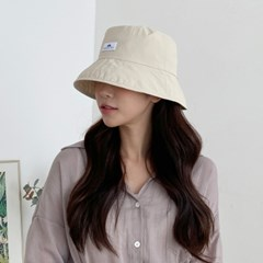 블루 패치 리버시블 다운 버킷햇 남성 여성 숏 벙거지 모자