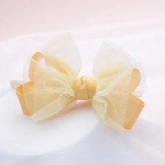 레몬밤 옐로우 리본 아동 머리띠 1P