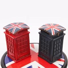 미니 빈티지 영국 전화박스 저금통 인테리어 소품
