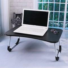 엔조이 접이식 좌식 책상 A-5(블랙우드) 미니 침대테이블