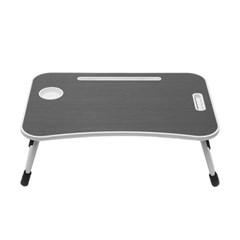 엔조이 접이식 좌식 책상 A-6(블랙우드) 이동형 컵홀더 탁자