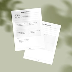 [어른문방구] 회의노트 메모지 / 업무 미팅 기록 플래너