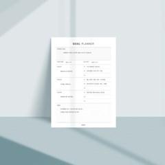 [어른문방구] 목표플래너 메모지 / 업무 성취달성 계획