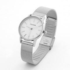루이스 여성 손목시계(화이트) 메탈 아날로그