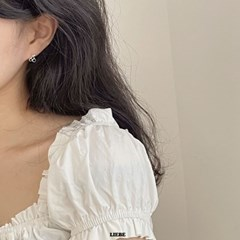 [925실버] 실버체리 귀걸이