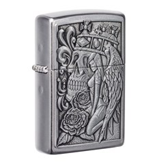 ZIPPO 라이터 49442 Skull and Angel Emblem Design_(2774777)