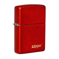 ZIPPO 라이터 49475ZL Classic Metallic Red Zippo Logo_(2774760)