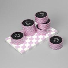 핑크 체커보드 마스킹테이프