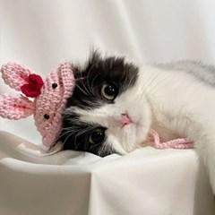 개린이&냥린이 토끼 뜨개모자