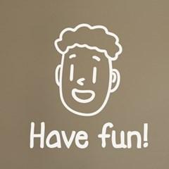 Have fun 귀여운 인테리어 스티커