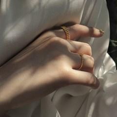 [사이즈 조절가능] 여자 다섯손가락 순은 실반지 5type