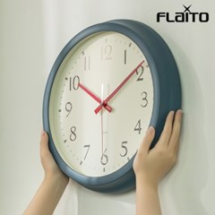 플라이토 레트로 무소음 인테리어 벽시계 35cm