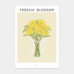 프리지아 블라썸 인테리어 아트 포스터 그림 액자