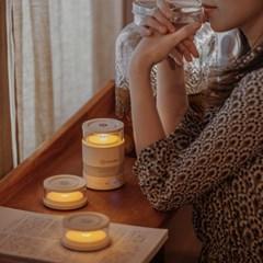 모리모리 아날로그 감성의 블루투스스피커 라스모 LED 무드등 스피커