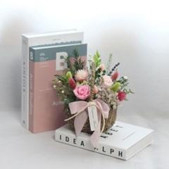 시들지않는 프리저브드 장미 꽃바구니 선물