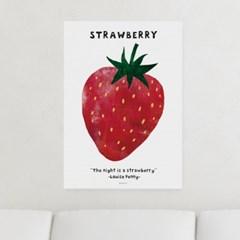 일러스트 포스터 / 인테리어 액자_strawberry 01