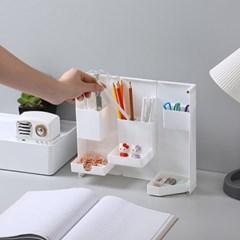 사무실 책상 연필꽂이 접이식 자석 수납함 화이트