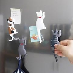 무타공 현관 냉장고 열쇠 마스크 고양이꼬리 자석행거_(1349956)