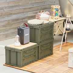 까사마루 캠핑 폴딩 박스 3p + 대나무 원목 상판_(847760)