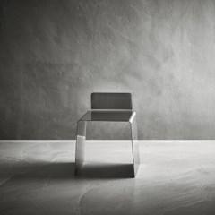 스테인레스 스틸 등받이 의자 _ 사각