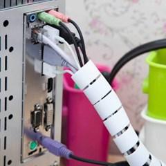 컴퓨터 티비 케이블선정리 지퍼형매직케이블커버 2개