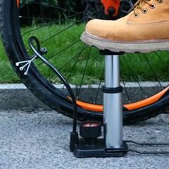 자전거펌프 공기주입기 기압계 농구공 튜브용