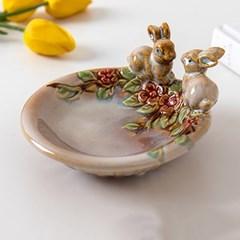 꽃 토끼 미니수반
