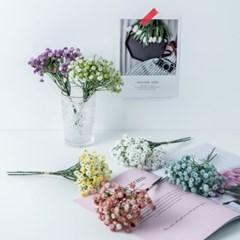 안개꽃 조화 미니 인테리어장식꽃 실크플라워 가짜꽃 부케 꽃다발
