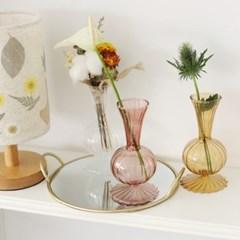 인테리어 유리 투명 빈티지 꽃 조화 소품 꽃병
