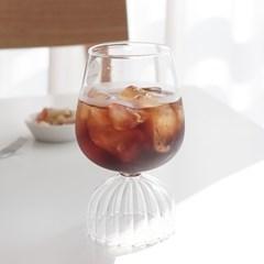 홈카페 유리컵 발레리나 아메리카노잔 2종세트 (와인잔,캠핑술잔)