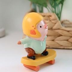 핑크 돼지 스케이트보드