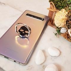 접착 휴대폰 거치대 해골 디자인 스마트링 360도 회전 핑거링