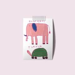엽서 - 코끼리거북이