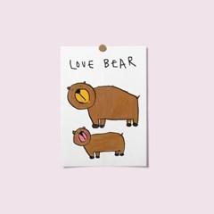 엽서 - love bear