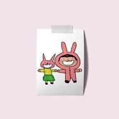 엽서 - 토끼와나